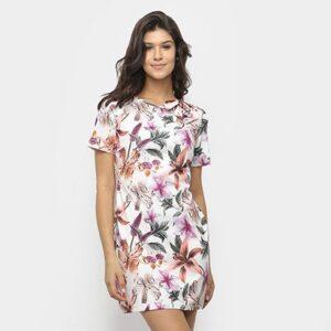 Vestido Lança Perfume Tubinho Estampado - Feminino-Floral