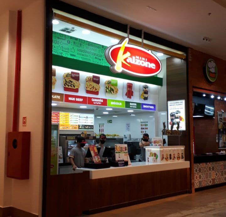 Mini kalzone Águas Claras Shopping, 1 Piso, Av. das Araucárias, Comércio Brasília