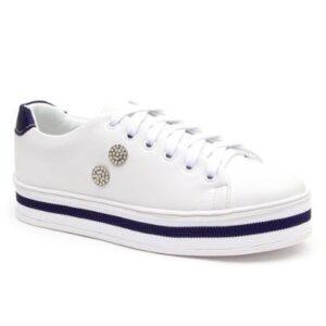 Tênis JL Shoes Casual Leve Feminino - Feminino-Branco