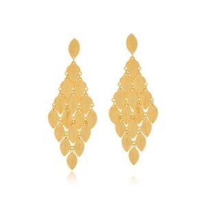 Brinco Le Diamond Cascata Gotas - Feminino-Dourado