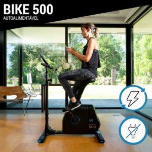 Bicicleta Ergométrica Vertical  AutoAlimentada Bike500 - BICICLETA ERGOMETRICA VERTICAL, MODELO 8503088, LINHA 500, SEM ENERGIA ELETRICA, SEM PILHAS, 2 ANOS DE GARANTIA DE FABRICAÇÃO, DOMYOS