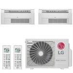 Ar Condicionado Multi Split Cassete Inverter LG 24000 BTUs (2x Evap 12000) Quente Frio A3UW24GFA2 - 220V
