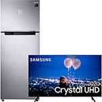 Samsung Smart TV 55'' Crystal UHD 55TU8000 4K, Wi-fi, Borda Infinita, Alexa built in, Controle Único e Visual Livre de Cabos + Geladeira/Refrigerador Samsung Duplex RT46K6261S8 Inox Look 453L - 220v