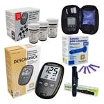 Kit Glicose Medidor Glicemia Teste Diabetes 150 Tira Lanceta