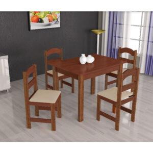 Mesa Arauna com 4 Cadeiras Primavera
