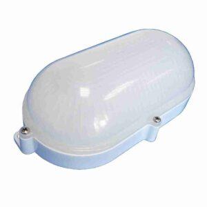 Luminária Arandela Tartaruga 7W Carcaça Branca Difusor Leitoso Luz Quente Bivolt - 6203