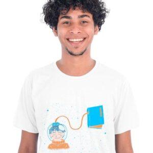 T-shirt Branca Livro Meu Oxigênio