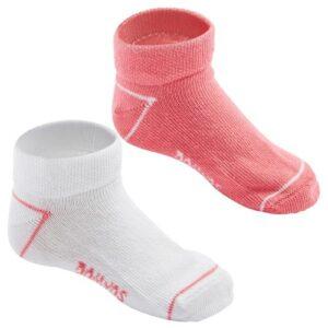 Meia Infantil Branco Rosa (02 pares)