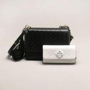 Bolsa Shoulder Bag Monograma Preta