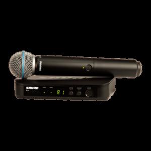 Microfone de Mão Sem Fio Shure BLX24/B58, Cápsula BETA58 BLX24BR/B58-J10