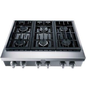 Rangetop de embutir semiprofissional Brastemp Gourmand 6 bocas inox com chamas de alta potência e simmer - BDR90AR - 110V