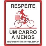Plaquinha de Sinalização para Bicicleta com Cachorro