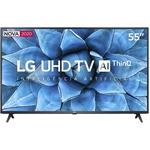 "Smart Tv LG 55"" 55UN7310 4K UHD Wifi Bluetooth HDR 3 HDMI 2 USB Inteligência Artificial Thinq Ai Google Assistente"