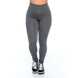Calça Legging Suplex Feminina - Feminino-Cinza