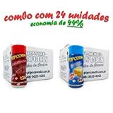 Temperos p/ Pipoca Popcorn Cx 24 Frascos: 12 Manteiga - 12 Calabresa