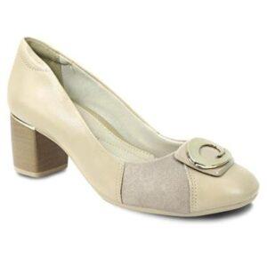 Sapato ComfortFlex com Fivela - Feminino-Nude