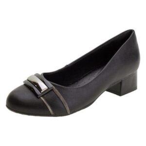 Sapato Feminino Salto Baixo Comfortflex - 1968303 - Feminino-Preto