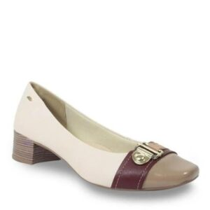 Sapato Dakota Salto Baixo Feminino - Feminino-Nude