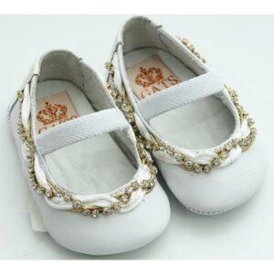 Sapato Baby Verniz Gats - Feminino-Branco