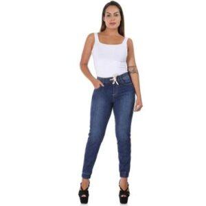 Calça Jeans  Jogging     Feminina - Feminino-Azul