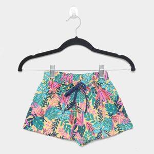 Shorts Infantil Malwee Micro Estampado Feminino - Feminino-Amarelo