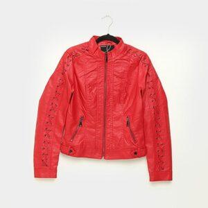 Jaqueta Queens Trançada Feminina - Feminino-Vermelho