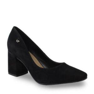 Sapato Verofatto Couro Nobuck Feminino - Feminino-Preto