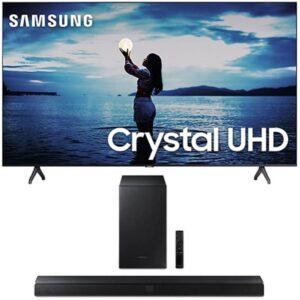 "Combo Smart Tv Samsung 65"" Tu7020 Crystal Uhd 4k 2020 Cinza Titan E S"