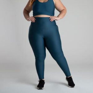 Legging plus size de poliéster feminina Fitness Shape