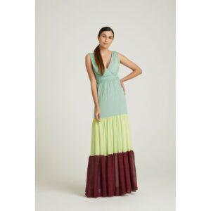 Vestido Longo Patch Color 36