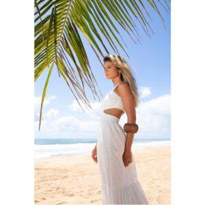 Vestido Longo Laise Branco 36