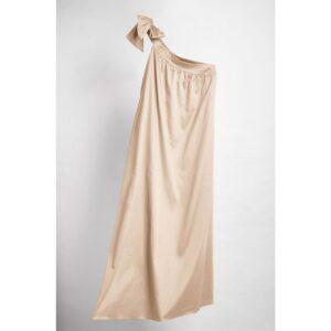 Vestido Longo Isabela cor Camelo 38