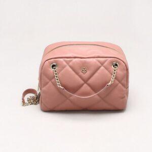 Bolsa Shoulder Bag Couro Matelassê Patchouli