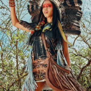 Regata com Franjas Coleção Saberes da Floresta Yacamim G