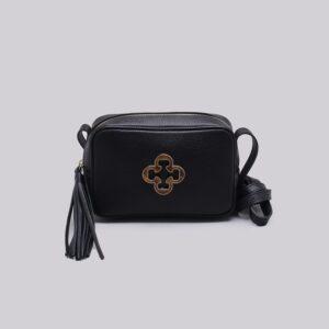Bolsa Shoulder Bag Couro Tortoise Preta