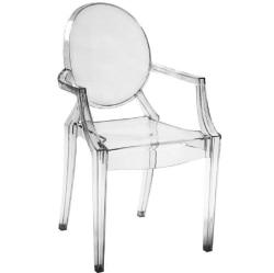 Cadeira com braço Rivatti Sofia, Incolor