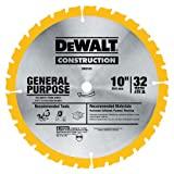 """DEWALT DW3103 Série 20 25 cm 32 dentes ATB Lâmina de serra fina para uso geral com mandril de 1,5 cm (5/8"""")"""