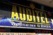 Auditel, Equipamentos de som, home theater, iluminação para boates, Rua das Elétricas